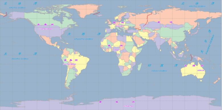 访问 supermap iserver 8c 服务的世界地图图片